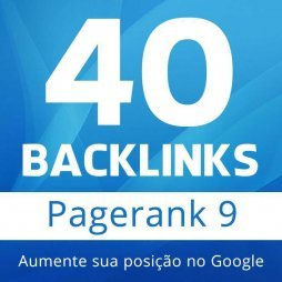 40 BACKLINKS PAGERANK 9 SEO GOOGLE