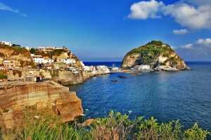 beautiful Ischia island,italy - sant angello