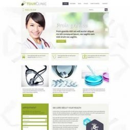 Hospital Clínica Médico Template Joomla Responsivo Colorido 047