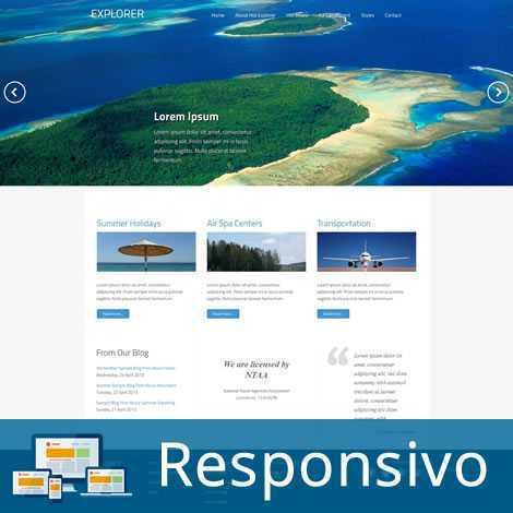 Agência de Viagem Turismo Template Joomla Colorido 050
