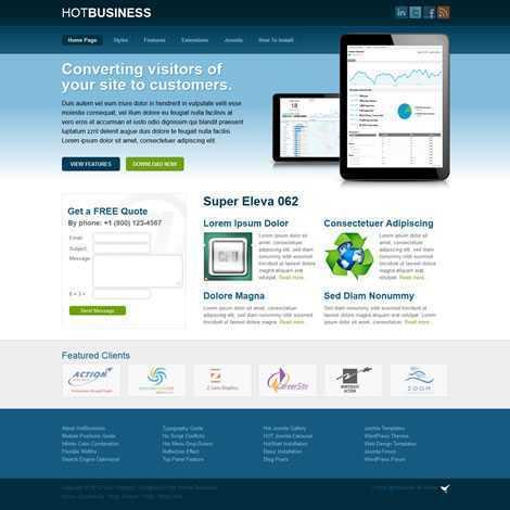 Portfólio Empresa Negócios Template Joomla Colorido 062
