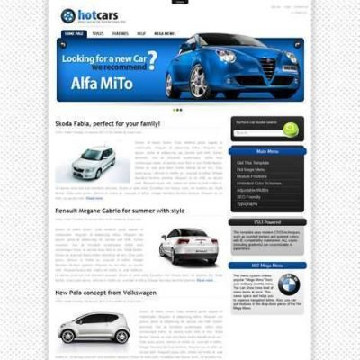 Criar Site Carros Automóveis Joomla 070