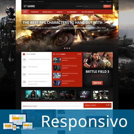 Jogos Games Template Joomla Responsivo 080