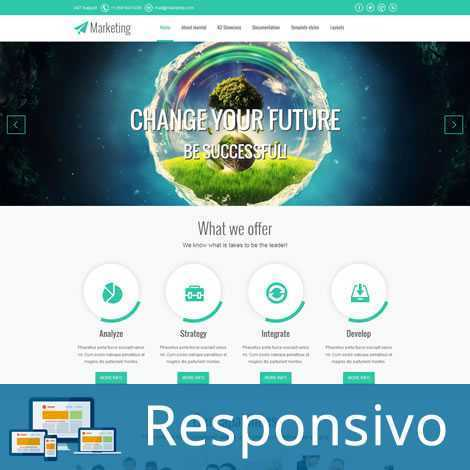 Marketing Template Joomla Responsivo 086