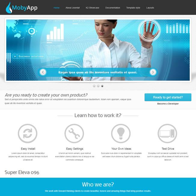 Criar Site Informática Template Joomla 096