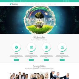 Criar Site Marketing Template Joomla 086