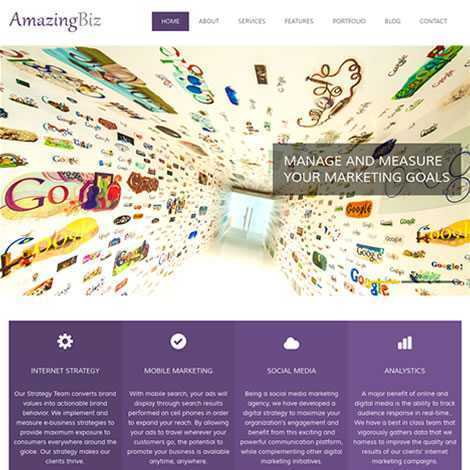 Empresa Template HTML Responsivo 100