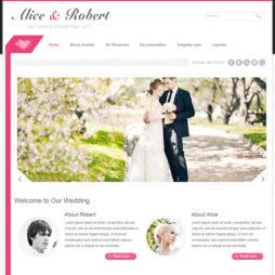 Criar Site Casamento Matrimônio Template Joomla 108