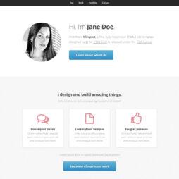 Criar Site Currículo Template HTML 106