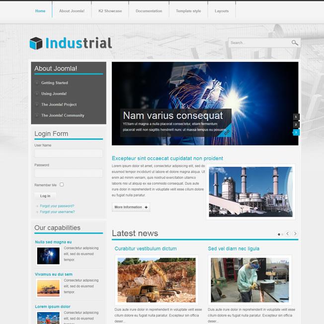 Criar Site Fábrica Template Joomla 107
