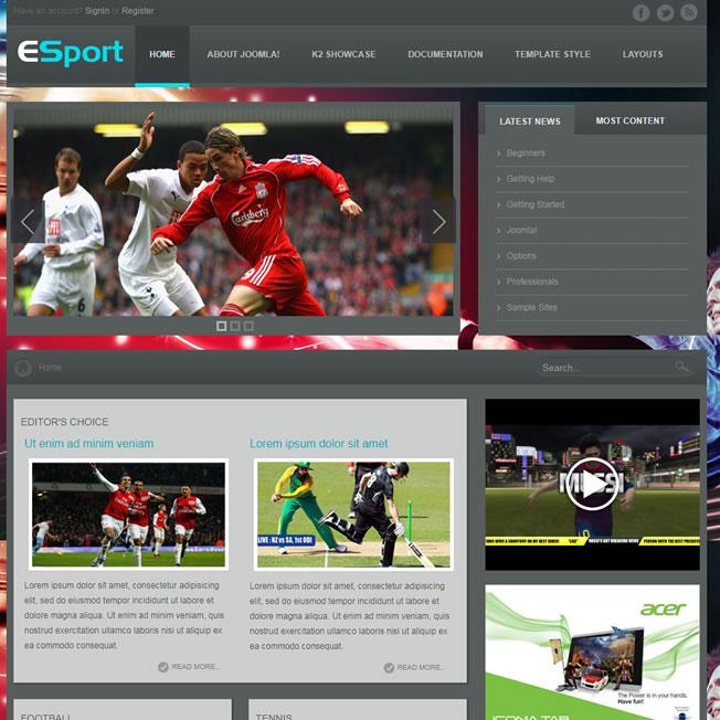 Criar Site Futebol Esporte Template Joomla 113