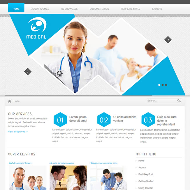 Criar Site Hospital Template Joomla 112