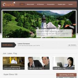Criar Site Igreja Religião Joomla 109