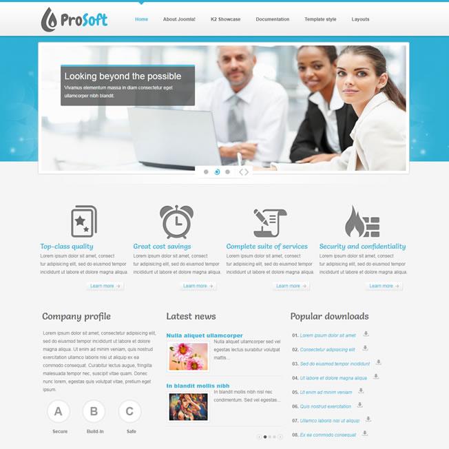 Criar Site Informática Template Joomla 111