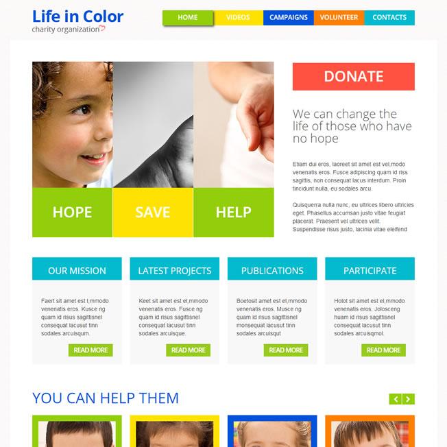 Criar Site Orfanato Criança