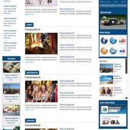 Criar Site Notícias Template Joomla Português 127 v2
