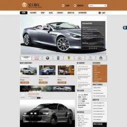 Automóveis Vendas Template Joomla Colorido 134