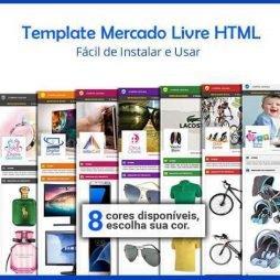 Template Mercado Livre HTML Várias Cores Para Vendas Anúncio