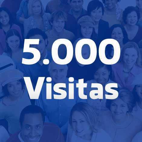 cinco mil visitas para seu site