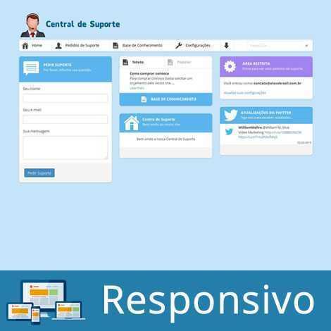 Sistema de Suporte PHP Português Responsivo 147