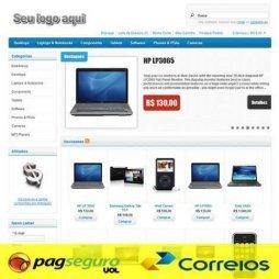 criar loja virtual template tema 148 pagseguro correios