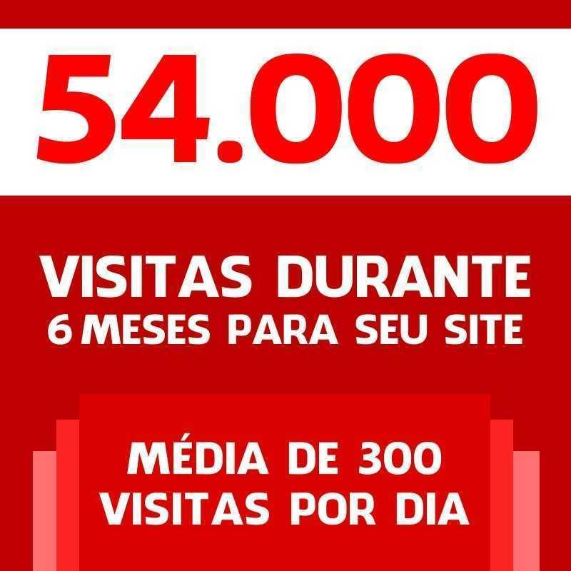 54 Mil Visitas Site Blog Loja Virtual Tráfego 100% Real