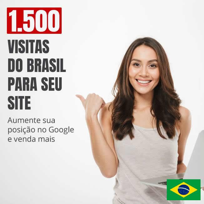 1.500 visitas Tráfego do Brasil em seu site em 7 dias v3