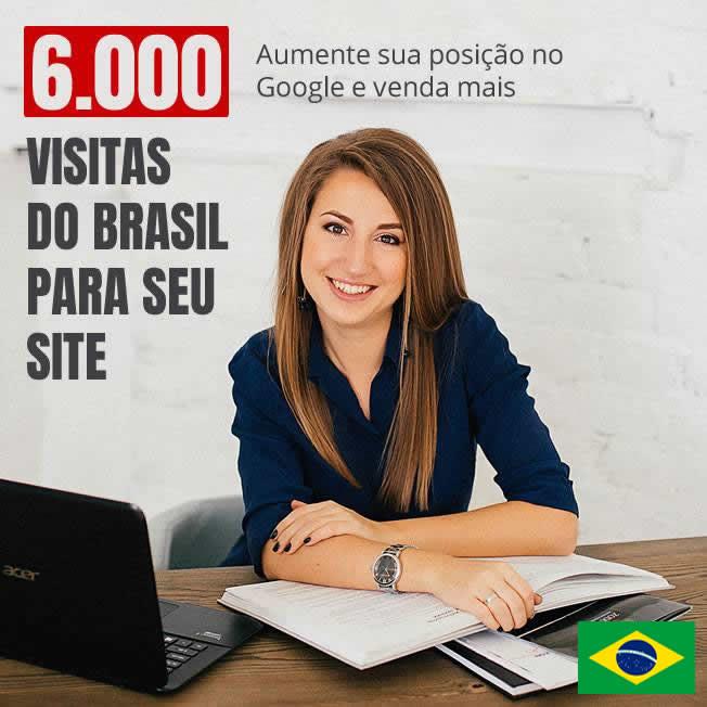 6000 Mil Visitas Tráfego do Brasil em seu site durante 7 dias v3