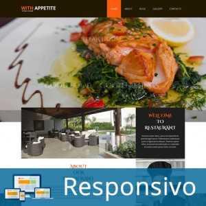 Template restaurante responsivo super eleva 160
