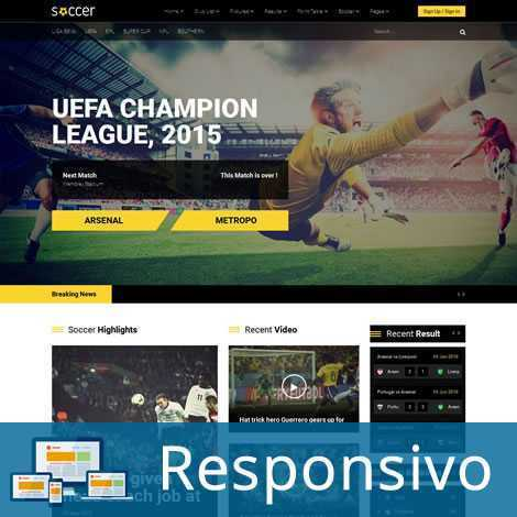 Template esporte futebol responsivo super eleva 164