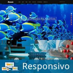 Template aquario peixes script site pronto responsivo super eleva 171