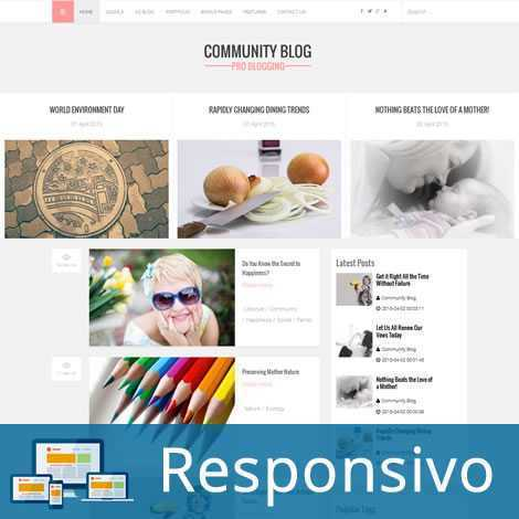 Template blog script site pronto responsivo super eleva 175