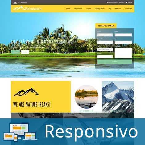 Turismo Agência de Viagens Joomla Responsivo 172