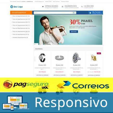 criar loja virtual template tema 197 pagseguro correios