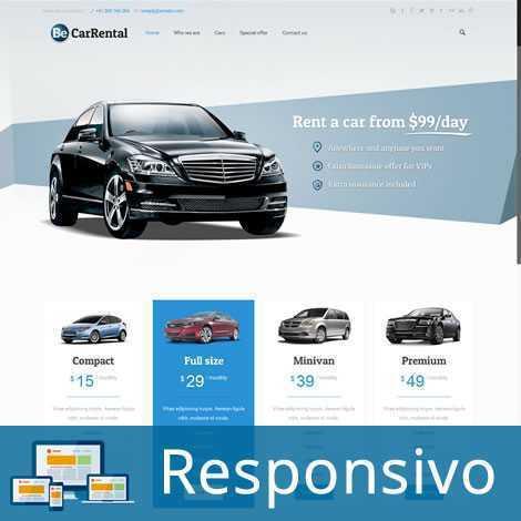 Aluguel de Automóvel Template WordPress 196
