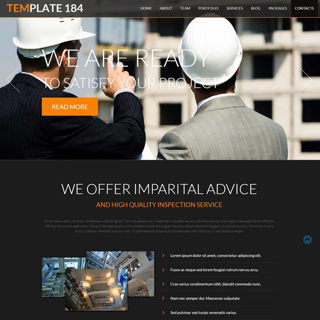 Criar Site Construtora Template Joomla 184