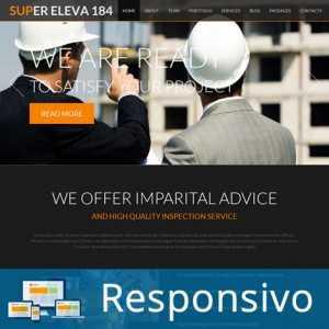 Template construção script site pronto responsivo super eleva 184
