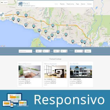 Template imóveis imobiliaria script site pronto responsivo super eleva 187