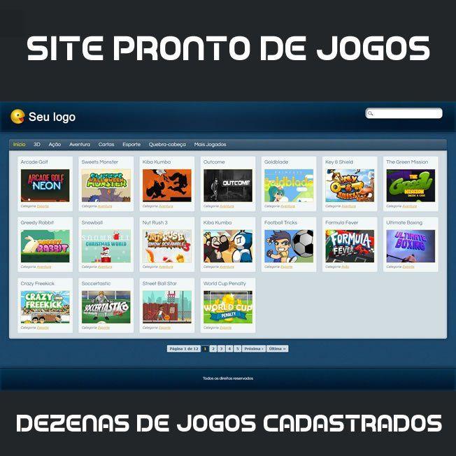 Criar Site Jogos Online Template Wordpress Português 192