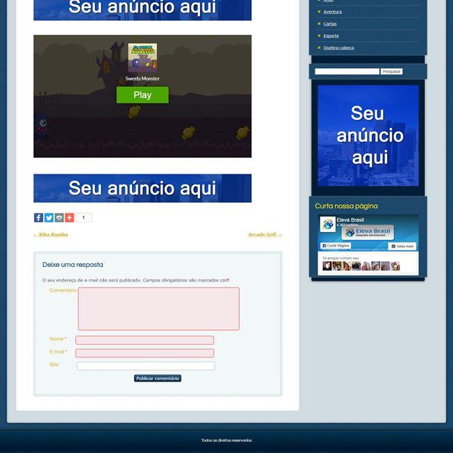 Criar Site de Jogos Online em 2021 Wordpress Português 192