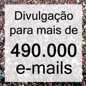 Divulgação para mais de 490 mil e-mails