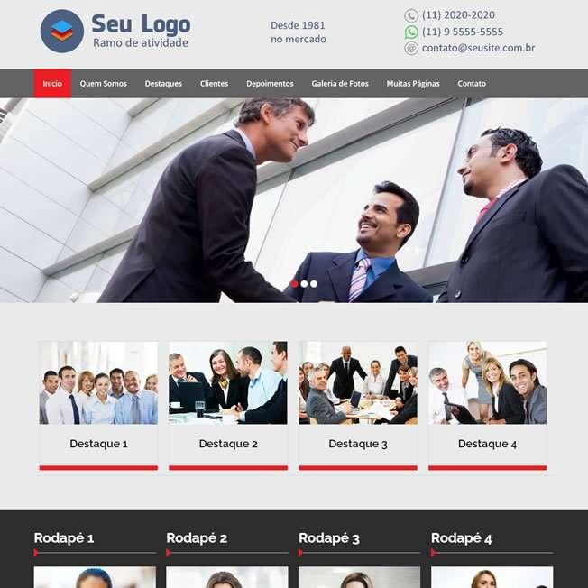 Criar Site Empresa Tema WordPress Português 215 v10