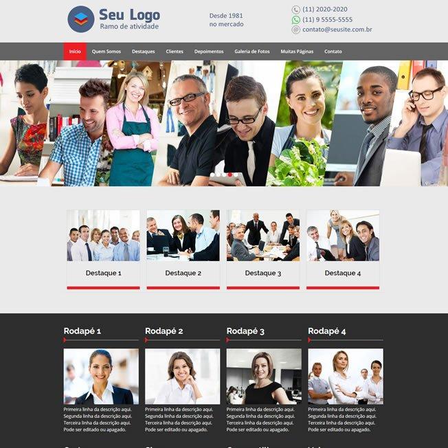 Criar Site Empresa Template WordPress Português 215 v1