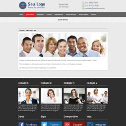Criar Site Empresa Template WordPress Português 215 v3