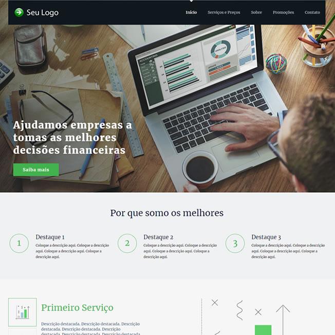 Criar Site Contabilidade Template Wordpress Português 206