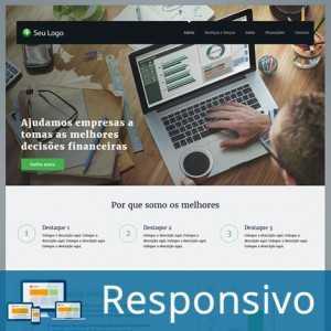 Template contabilidade finanças script site pronto responsivo super eleva 206