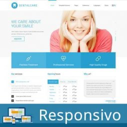 Template dentista site pronto responsivo super eleva 021
