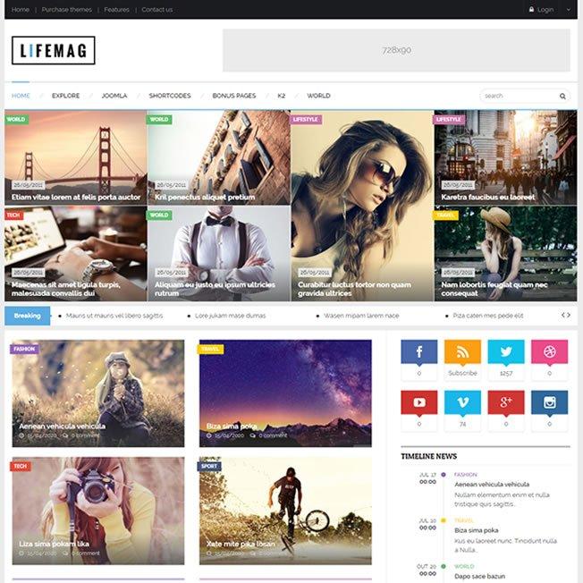 Criar Site De Notícias Blog Joomla 219 Template Tema v1