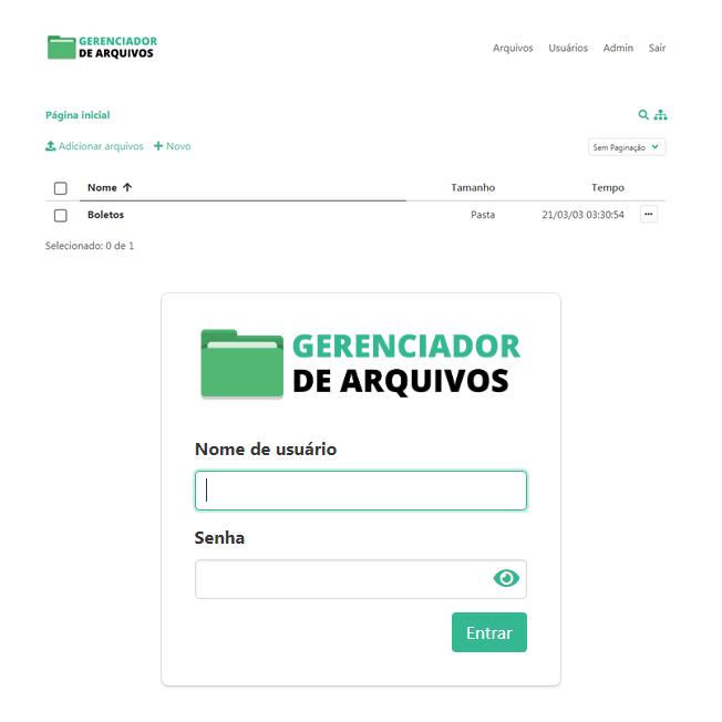 Site Gerenciador de Arquivos