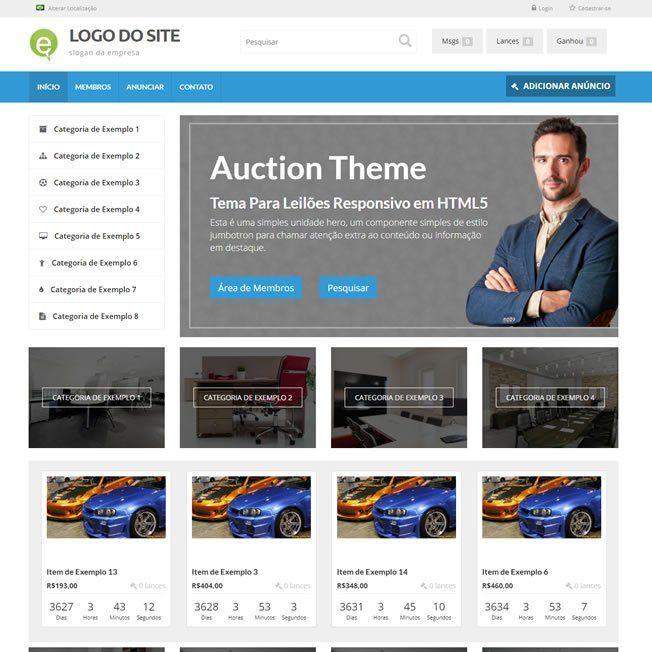 Criar Site Leilão Virtual Wordpress Português 233 A v1